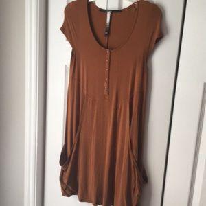 Kenzie brown T-shirt dress